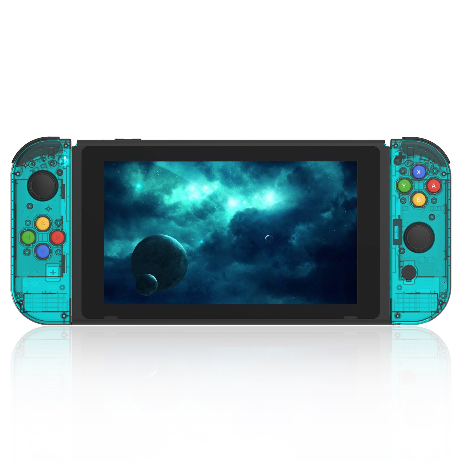 BASSTOP [Update Version] NS Joycon Handheld Controller Housing DIY  Replacement Shell Case for Nintendo Switch Joy-Con (L/R) Without  Electronics