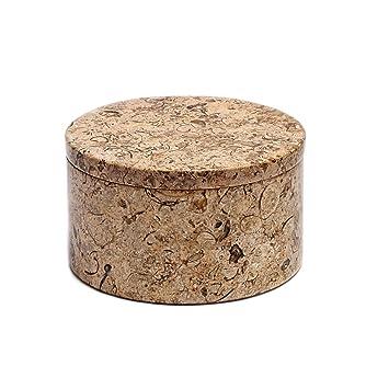 Amazoncom All Natural Fossil Coral Stone Trinket Jewelry Box 4