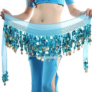 9b12dd7abdf6 Brightup Jupe de Danse du ventre Foulard envelopper Chaîne Frange pièces de jupe  Ceinture Tribale  Amazon.fr  Vêtements et accessoires