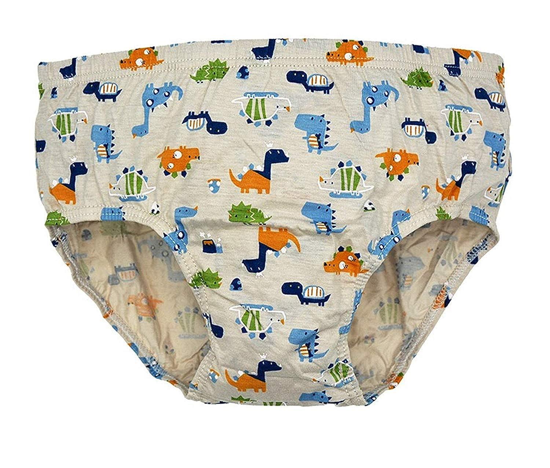 2T-14 Pack of 5 Ourfashion Kids Underwear Little Boys Cartoon Pattern Briefs Toddler