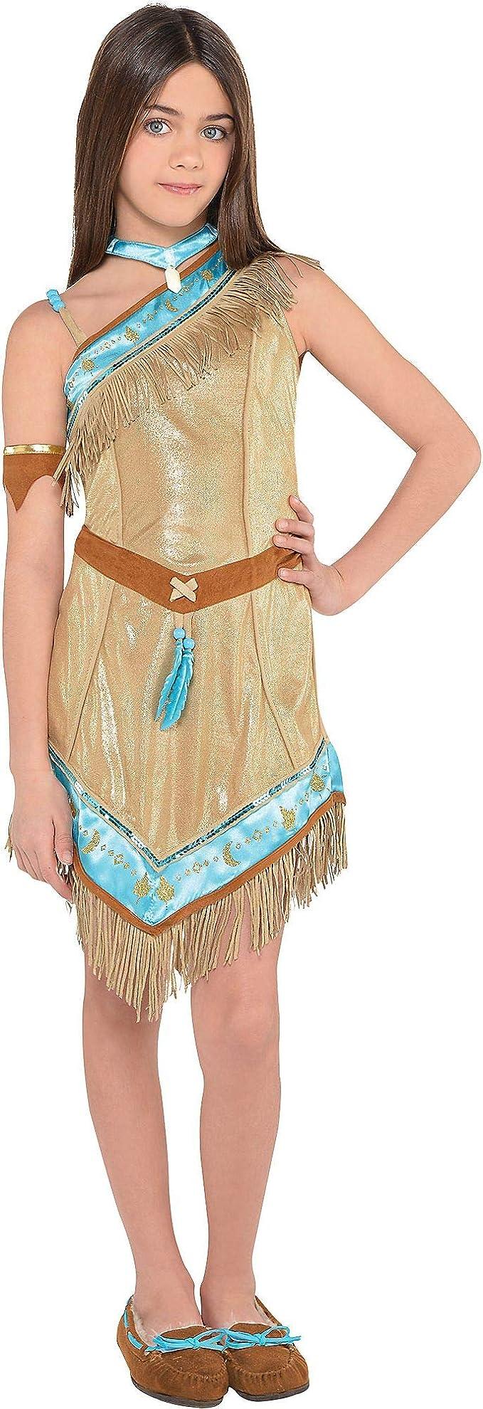 SUIT YOURSELF Disfraz de Pocahontas para niñas, talla mediana ...