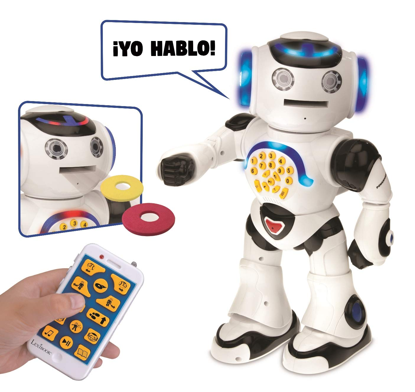 LEXIBOOK Powerman Robot educativo, Colore Bianco (rob50es)