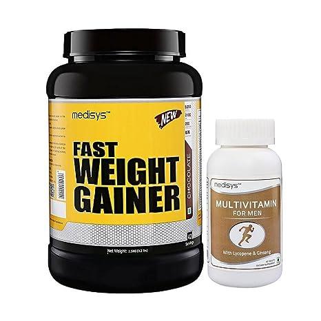 Medisys Fast Weight Gainer - Chocolate - 1 5Kg [Free-Multivitamin]