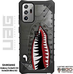 UAG Samsung Galaxy Note 20 Ultra 5G Limited Edition Case Rugged Military Urban Armor Gear by EGO Tactical - P-40 TigerShark Jaws Teeth Warthog