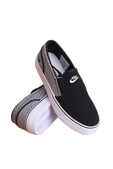 11261a64619f Nike 724770-001 Women TOKI Slip Canvas Black White Black  NIKE  Amazon.ca   Shoes   Handbags