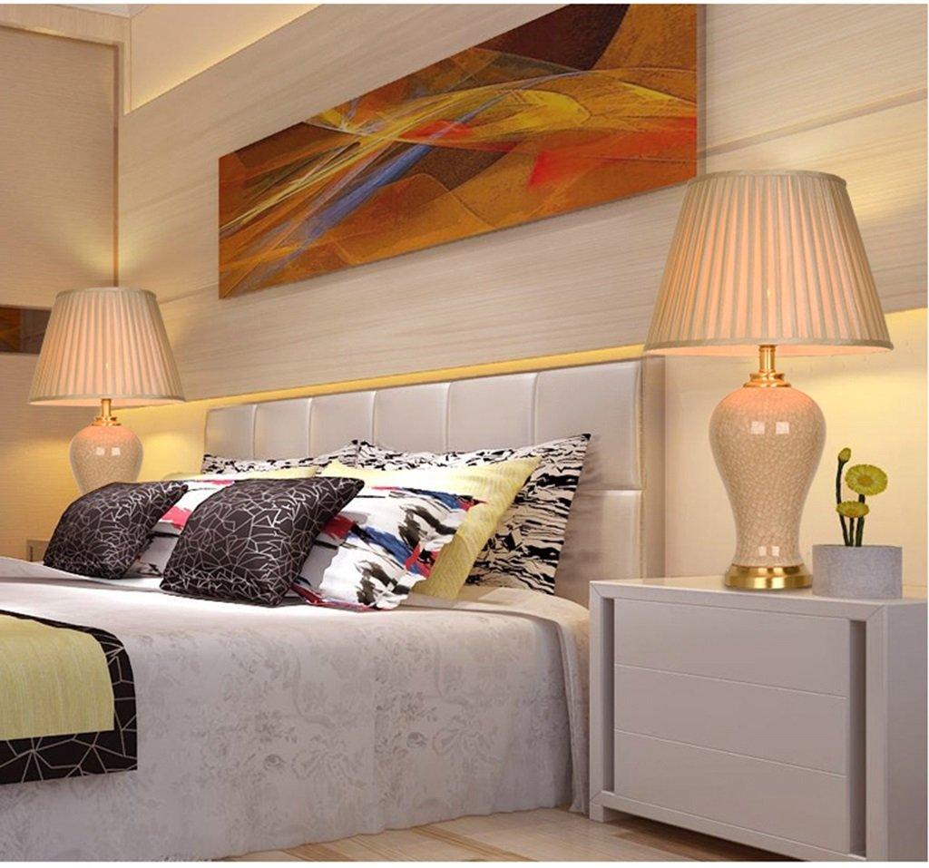 15 cm Zuhause XZG Keramik Tischlampe 15 Farbe : B Kupfer Lampe