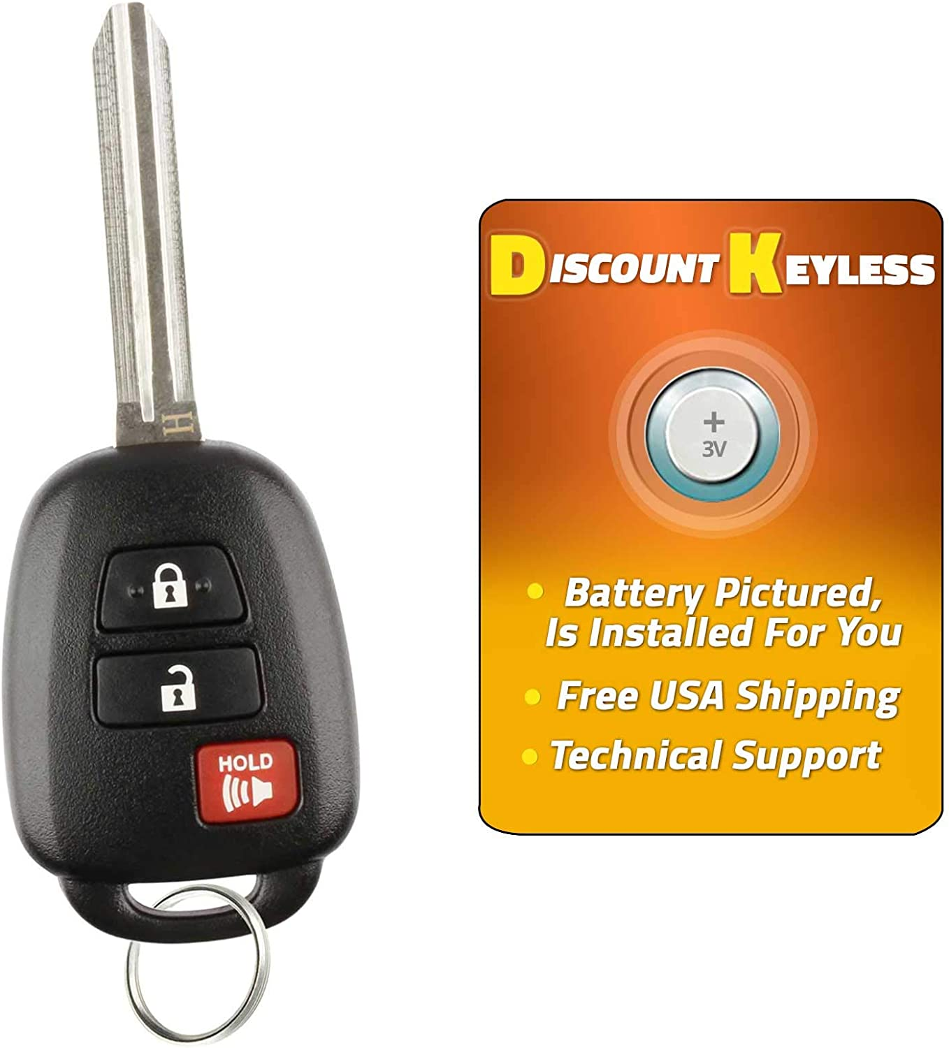 1551A-12BDM G-CHIP 2 PACK For 12-16 Toyota Prius C Keyless Entry Remote Key Fob Combo 3btn HYQ12BDM
