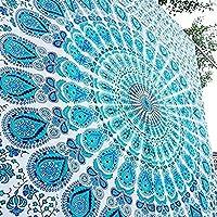 Craftozone 90 x 54 pulgadas Algodón Indio Decoración de la pared Hippie Tapices Bohemio Mandala Tapiz Colgante de pared Tiro