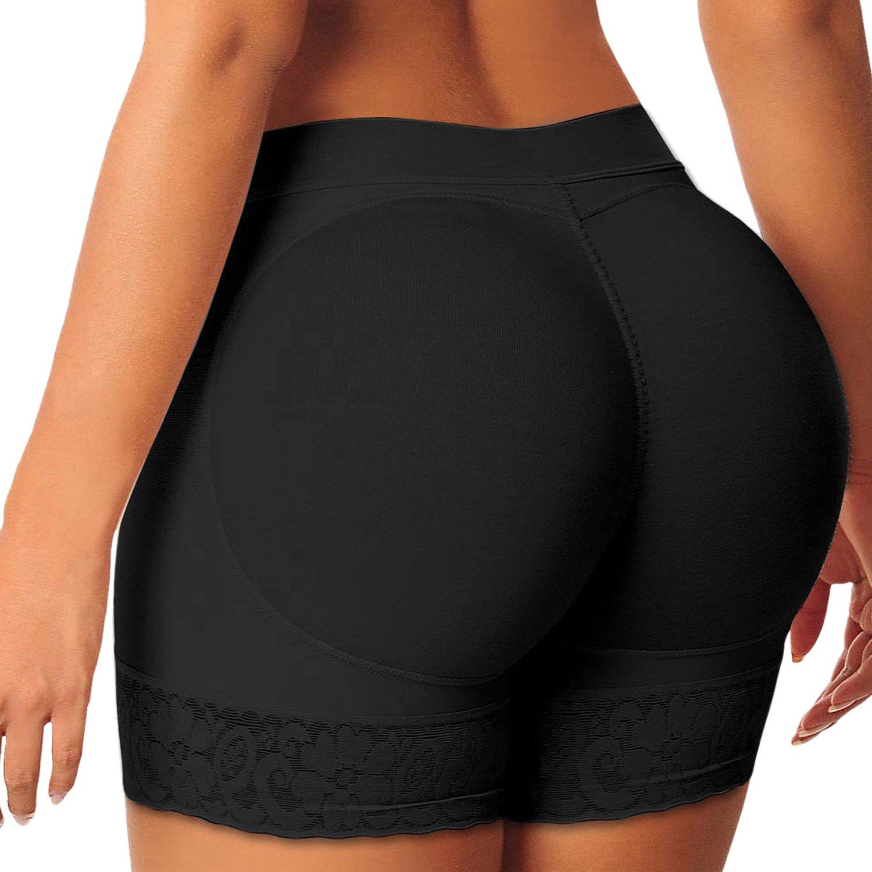 StarTreene Damen Unterw/äsche Push-up Bodyshaper Padded Shapewear Spitze Gef/älschte H/üfte Unterhose