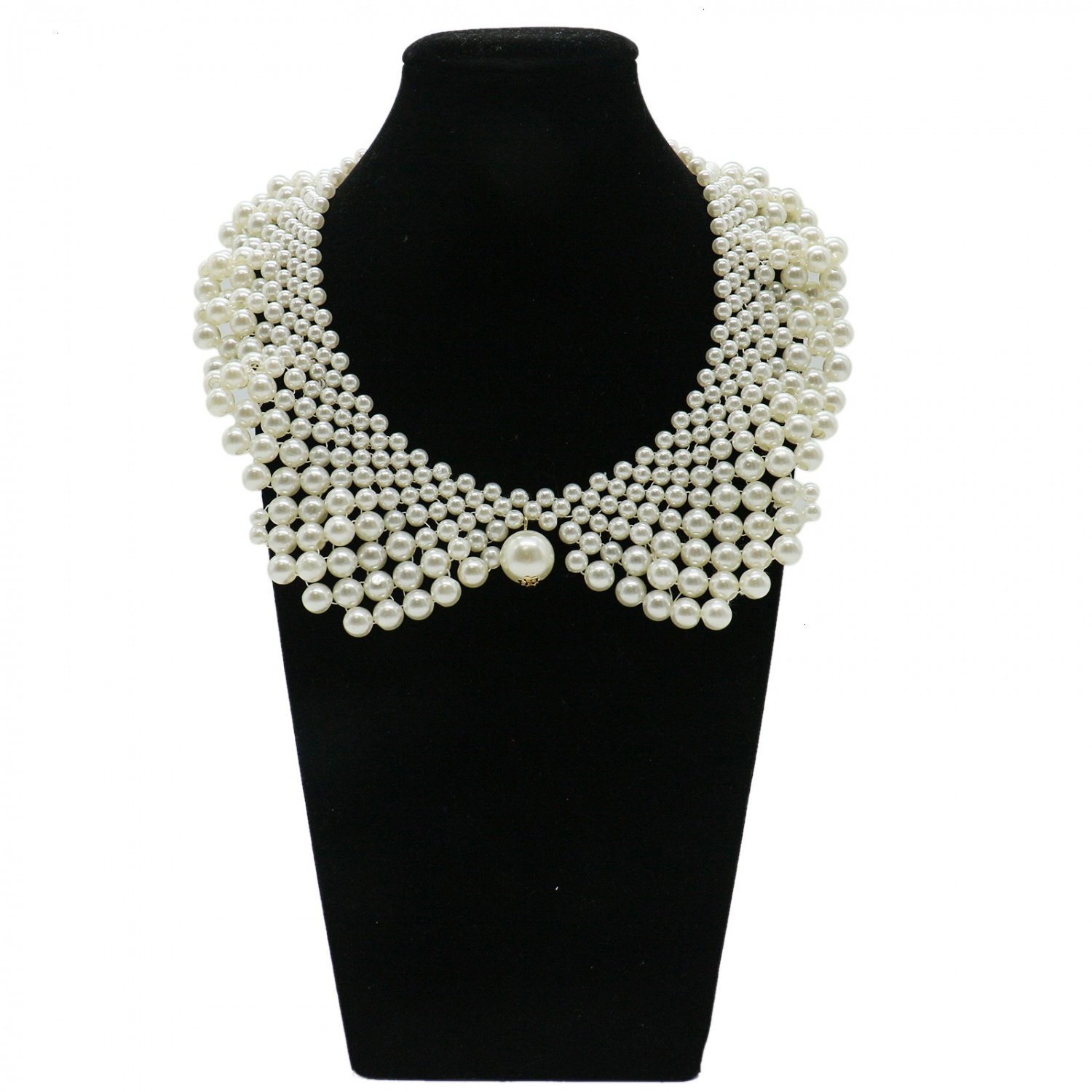 IDS False Collar Necklaces Romantic Necklaces with Artificial Pearl for Women Clothing DIY Craft Supply IDS Manufacturer