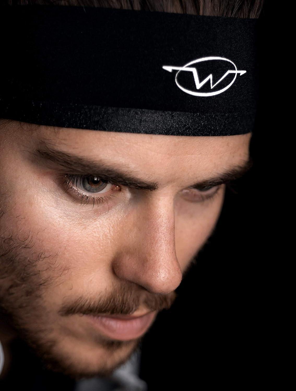 89210ba0ec46 WICKFLOW Sports Headbands for Men and Women. Sweat Control by Patented  Wicking Channel. Very Lightweight
