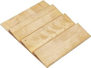Rev-A-Shelf 4SDI-18 16-Inch 3-Tier Trim-to-Fit Wooden Spice Drawer Storage Organizer Cabinet Insert, Natural Maple