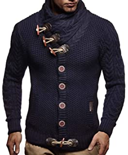 cffc4617 Leif Nelson Men's Knitted Jacket Turtleneck Cardigan Winter Pullover  Hoodies Casual Sweaters Jumper LN4195
