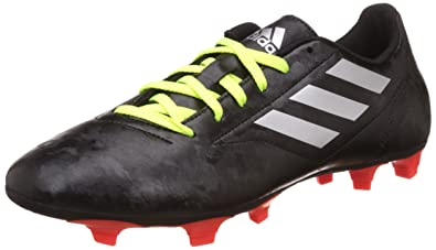 24844772f49e Adidas Men's Conquisto Ii Fg Cblack, Silvmt and Solred Football Boots - 9  UK/