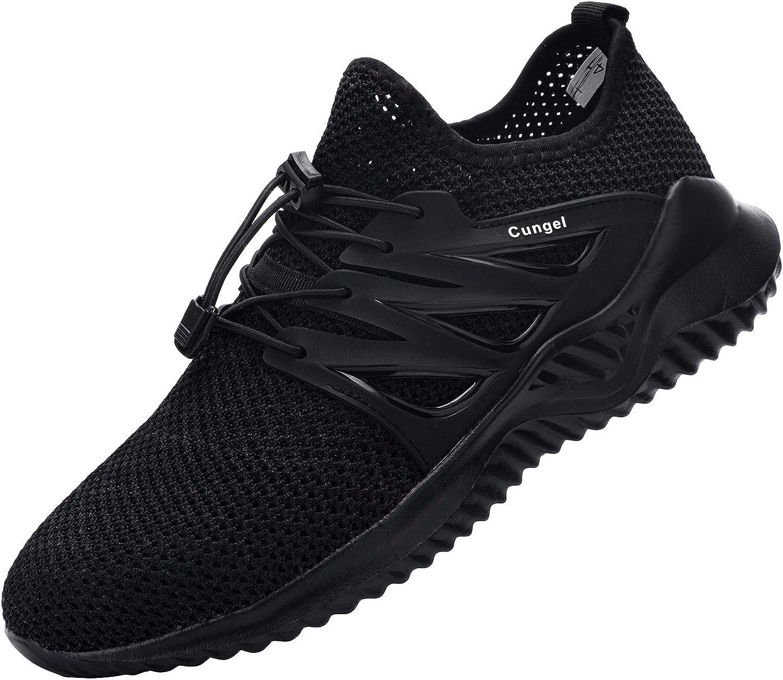 DYKHMILY Zapatillas de Seguridad Hombre Zapatos de Seguridad Ligeras Transpirable con Puntera de Acero Anti-pinchazo