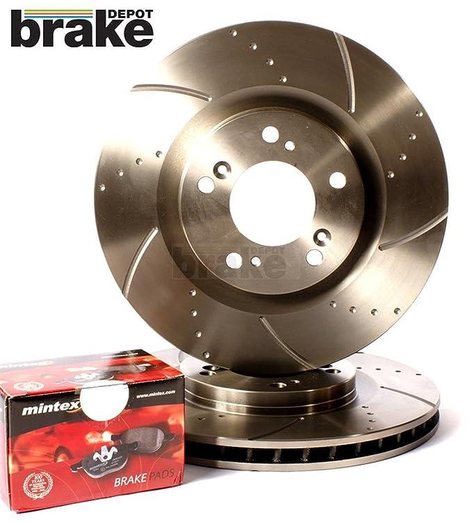 Evora Mondeo ST TDCI Front Dimpled Grooved Brake Discs Mintex Pads ...