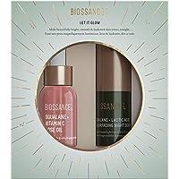 Biossance Let It Glow Set - 2-Piece Set Includes Squalane + Vitamin C Rose Oil for Face + Creamy Lactic Acid Night Serum…