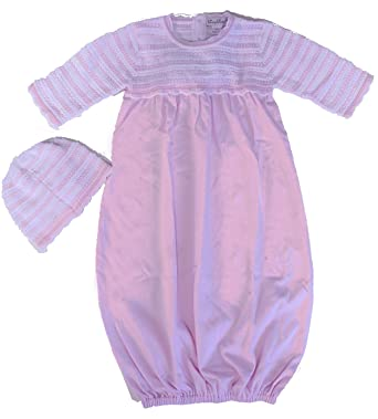 6d638cba0a29 Amazon.com  Kissy Kissy Beautiful Baby Heirloom Gown and Hat Set (0 ...