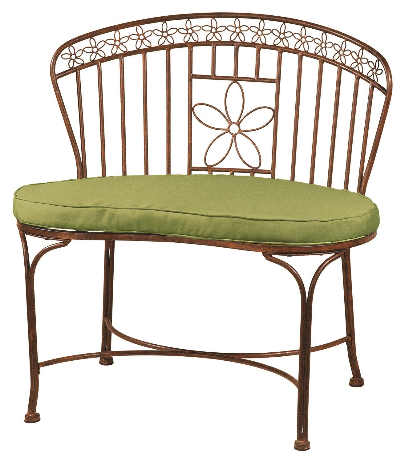 Deer Park Ironworks Steel Daisy Ribbon Bench BE210