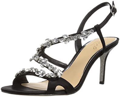 d02966db848b Amazon.com  Badgley Mischka Jewel Women s GANET Heeled Sandal  Shoes