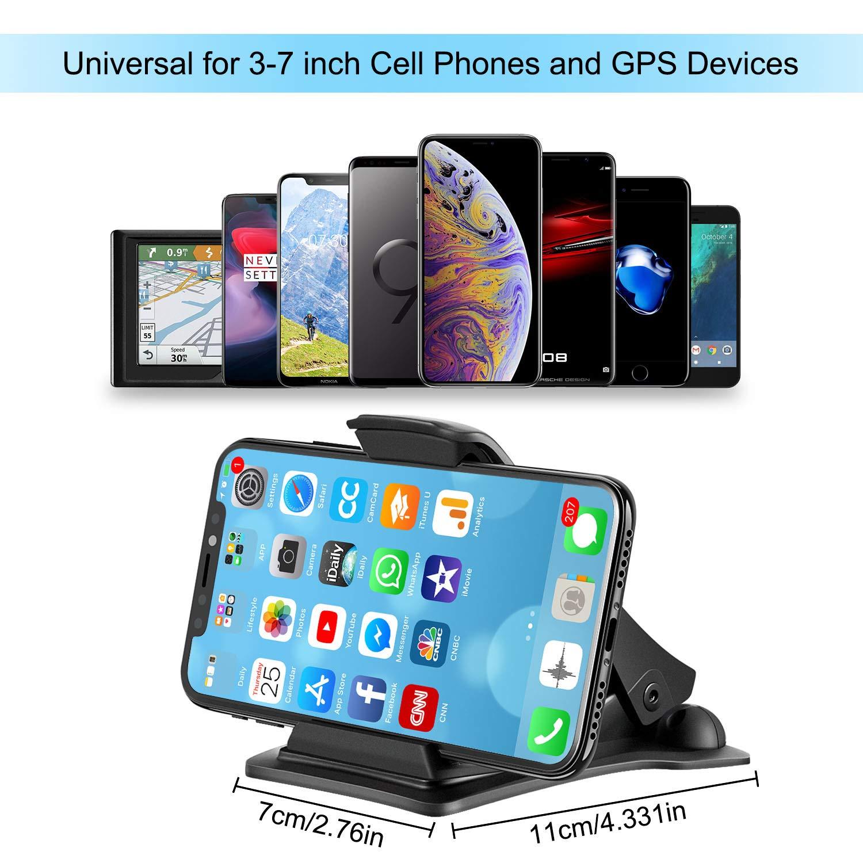 Soporte M/óvil Pinza Huawei Mate 20 Pro//Mate 20 Soporte M/óvil para Coche para iPhone XS MAX//XS//XR//iPhone X//8 Plus//8 etc GPS Samsung Galaxy S9 MOSUO Soporte M/óvil Coche para Salpicadero Xiaomi