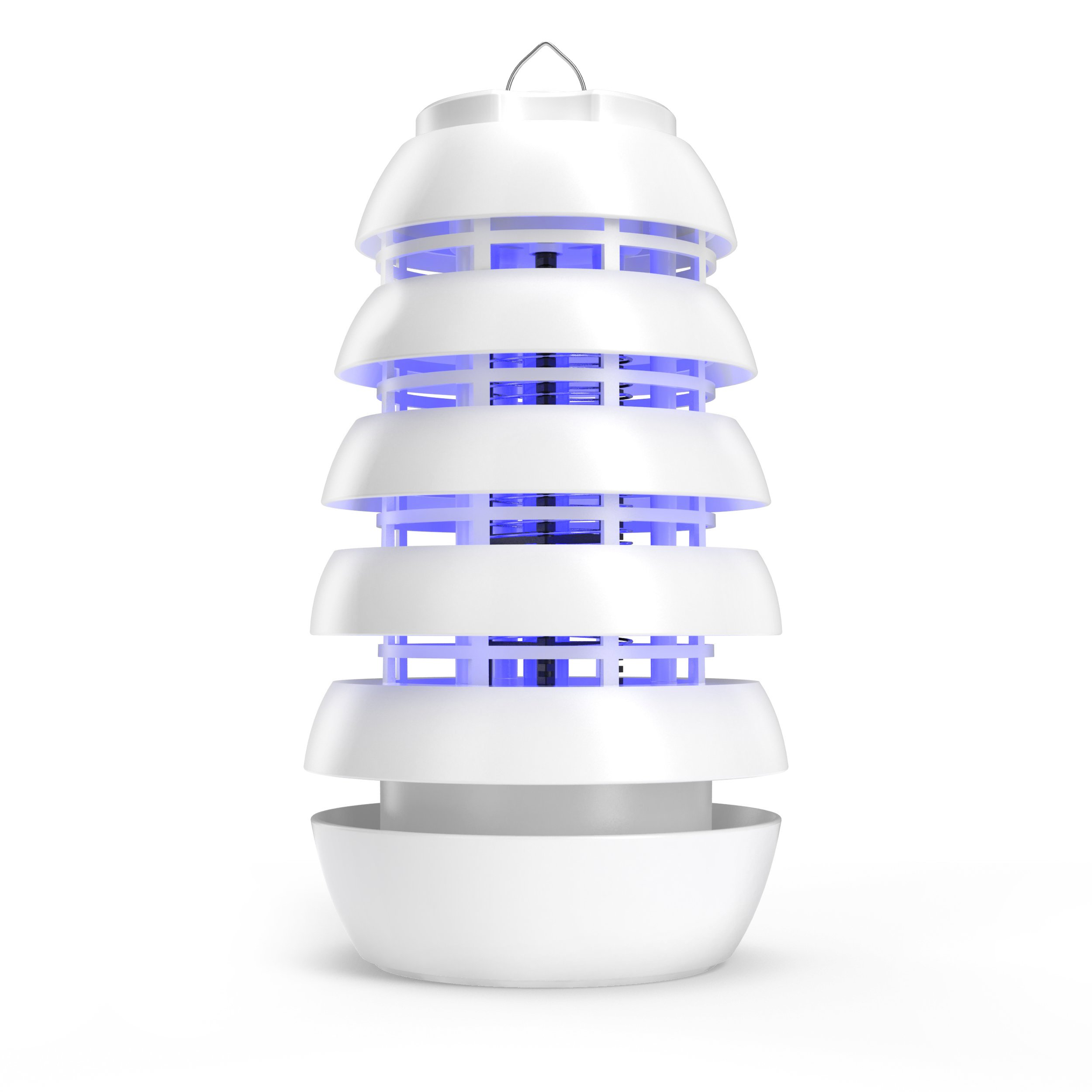 Pure Enrichment Electronic Insect Killer - Improved Indoor/Covered Patio Bug Zapper - Attracts Bugs, Mosquitoes and Other Pests with Safe, Long-Lasting UV LED Light and Titanium Dioxide Coating by Pure Enrichment
