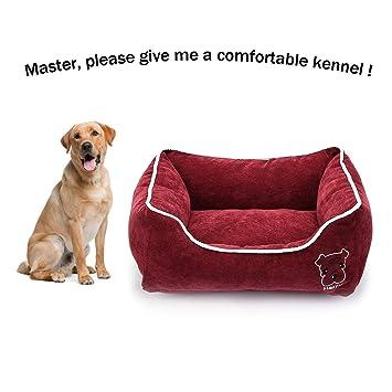Amazon.com: CLOVLY PAWS Cama rectangular para mascotas con ...