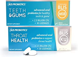 ThroatHealth with BLIS K12 + Teeth&Gums with BLIS M18 for Complete Oral probiotic Health