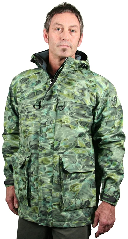 0887ebd0bd0f8 Amazon.com: Aqua Design Men's StormShield Insulated Fishing Hunting Pro DWR  Water Camouflage Wading Rain Jacket: Clothing