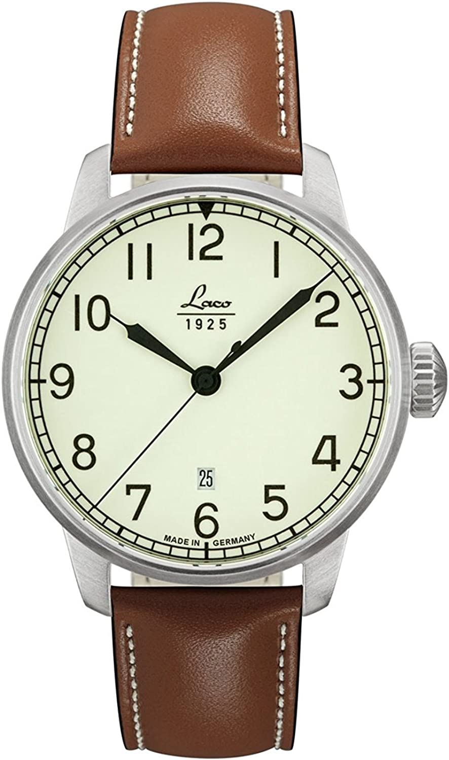 Laco Valencia Automatic Luminous Dial Watch with Sapphire Crystal 861651