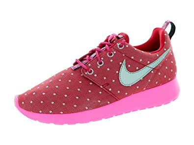 separation shoes e015a 2f140 Nike Kid s Rosherun Print GS, DARK RED MTLLC SILVER-PINK PW-WHITE