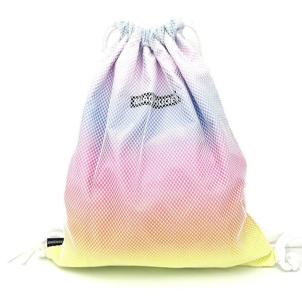 Fashion Girl Drawstring Bag Backpack for Travel School Sports Shopping Gym Beach Swimming, Gradient Color Drawstring Backpack Lightweight String Bag Waterproof Yoga Sackpack Casual Daypack