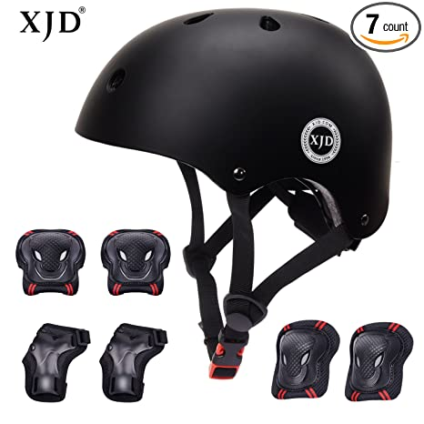 1e7bb5222f XJD Kids Helmet 3-8 Years Toddler Helmet Sports Protective Gear Set Knee  Elbow Wrist