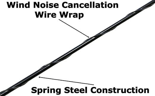 8 Black Short Antenna is Compatible with Chevrolet Suburban 2500 - Spiral Wind Noise Cancellation Spring Steel Construction AntennaMastsRus 2006