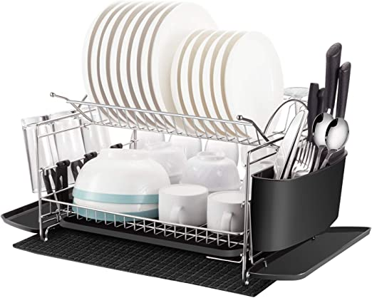 Amazon Com Dish Rack Oyydecor 2 Tier 304 Stainless Steel
