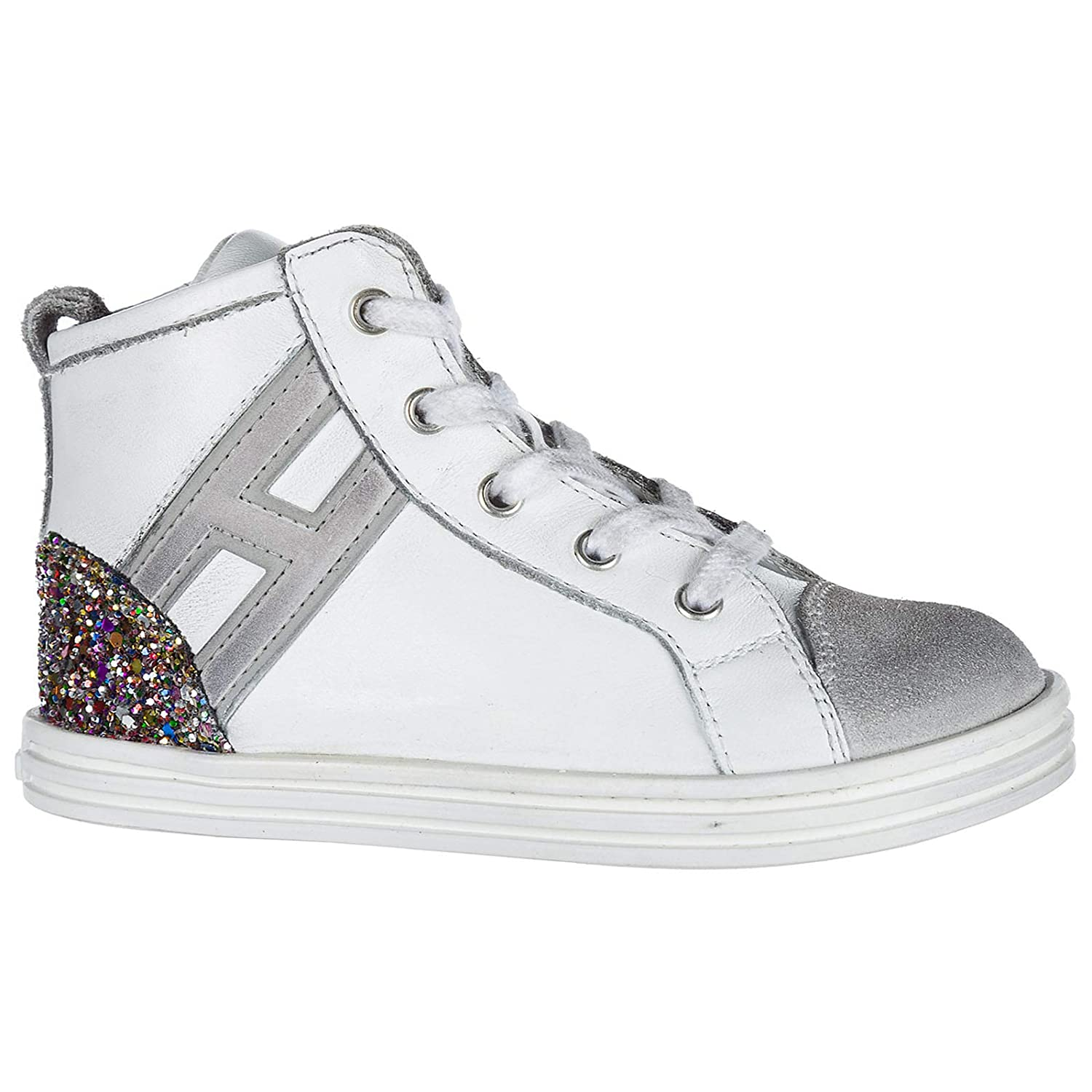 ccfff8bfe4e3 Hogan Baby R141 high top Sneakers Bianco 9C UK Child  Amazon.co.uk  Shoes    Bags