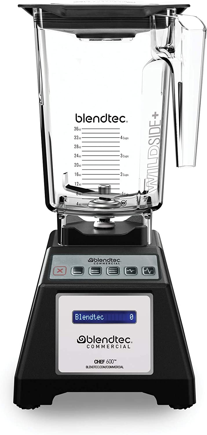 Blendtec E600A0801-A1GA1D Chef 600 Countertop Blenders, 11.40 lbs, Black