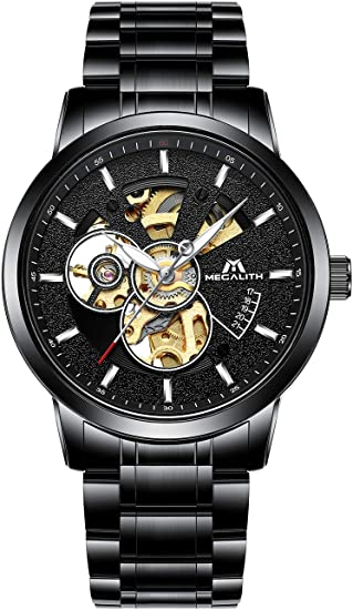 MEGALITH Herren Uhr Automatik Männer Mechanische