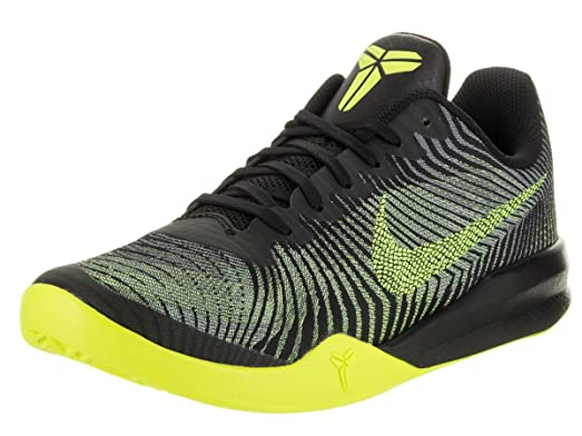Nike Men\u0027s KB Mentality II Black/Volt/Wolf Grey Basketball Shoe 12 Men US