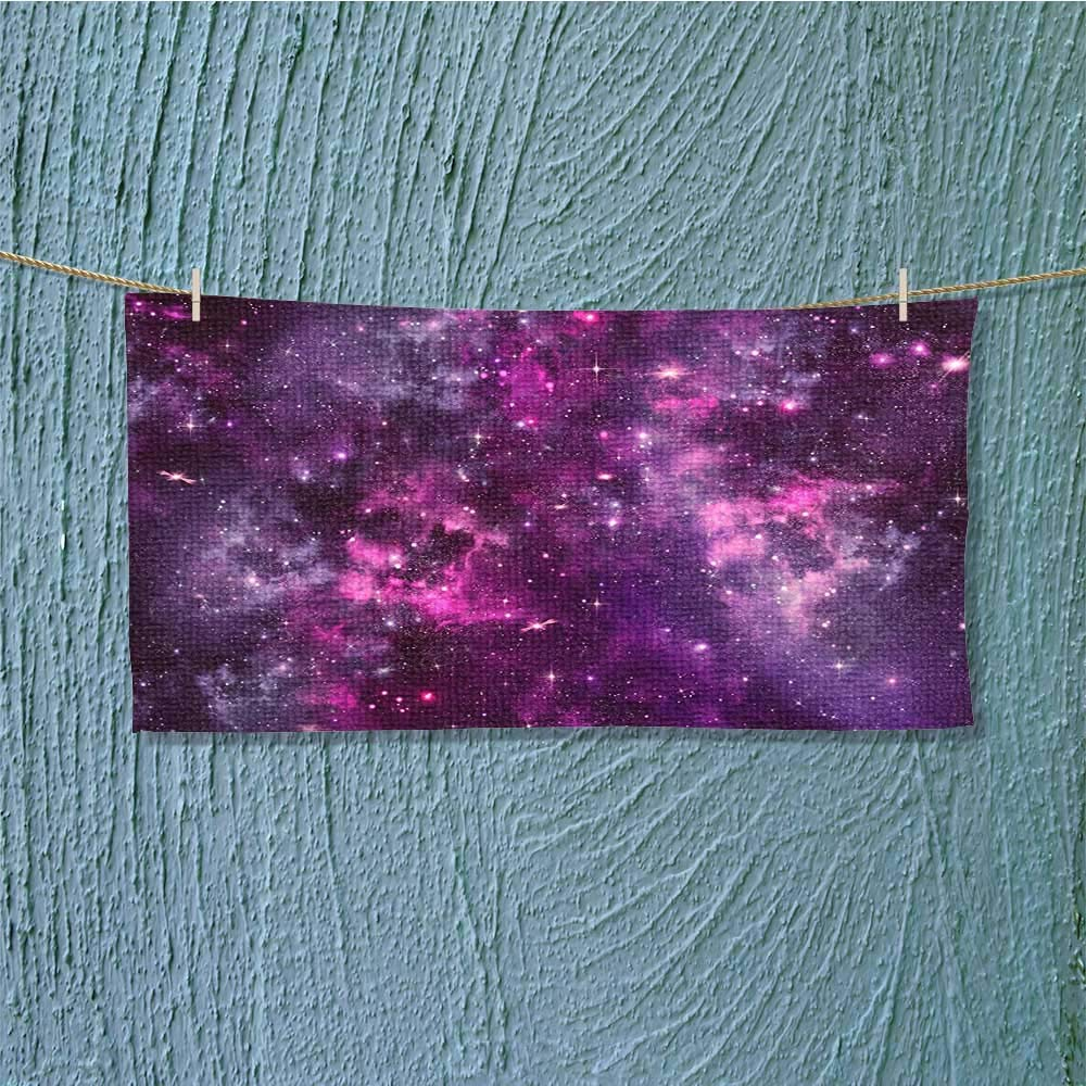 Microfiber Towel Nebula Gas Cloud Deep Dark in with Star Clusters Infinity Solar Sky Print High Absorbency L27.5 x W11.8 inch