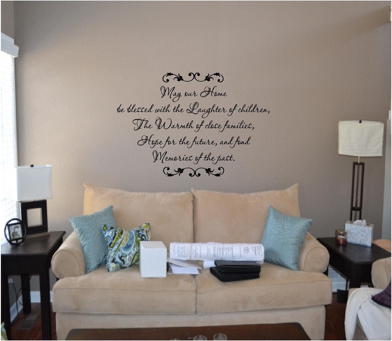 Wall Art Quote Decal Sticker May this family be blessed