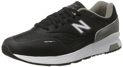 New Balance 1500 Synthetic Formatori Uomo Nero Black with Grey/White S6u