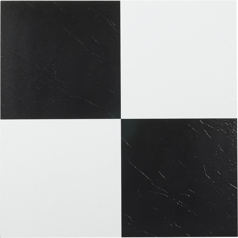 Achim Home Furnishings FTVSO10120 Nexus 12-Inch Vinyl Tile Sеt оf Fоur Solid Black 20-Pack