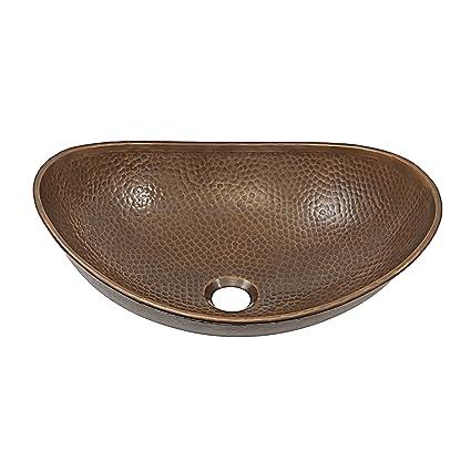 Gentil Confucius 19 Inch Copper Vessel Sink Handmade In Antique Copper