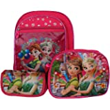 Best Shop Fabric 23 Ltrs Pink Schoolbag Set With Pencil Pouch & Sling Bag