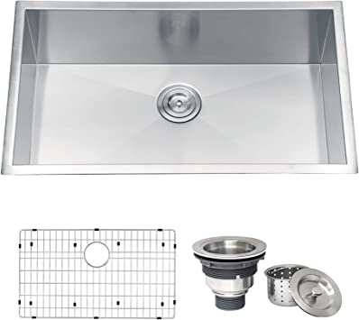 Ruvati Rvh7405 Undermount 16 Gauge 32 Kitchen Sink Single Bowl Stainless Steel Amazon Com