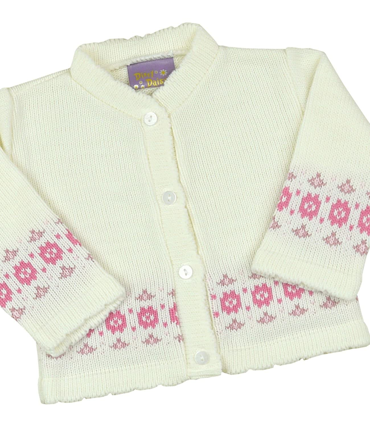 Babyprem Baby Cardigan Jacket Girl Pink Flower Soft Knitted 0-12 Months BEE030