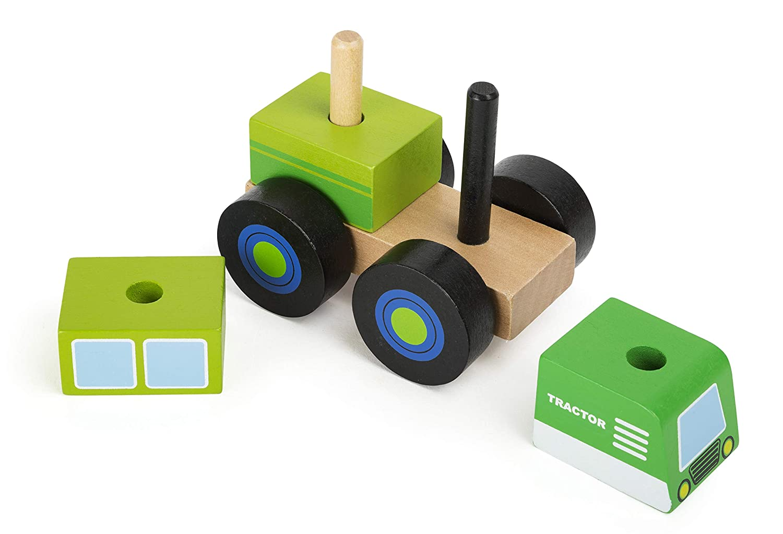 Mehrfarbig small foot 11073 Konstruktionsfahrzeug Traktor aus Holz FSC 100/%-Zertifiziert Spielzeug