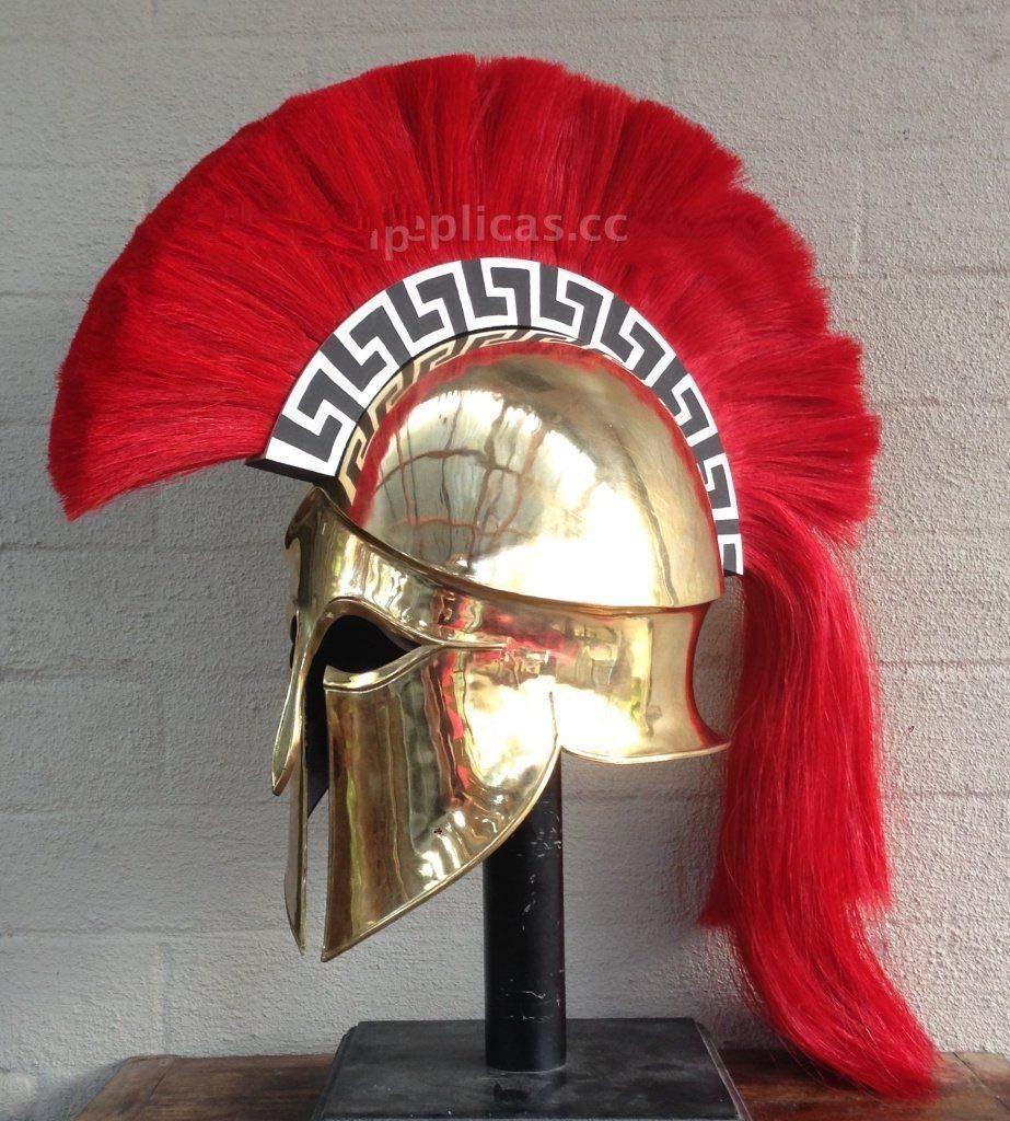 QUALITYMUSICSHOP Medieval Wearable Greek Corinthian Helmet Free Leather Liner Knight Helmet