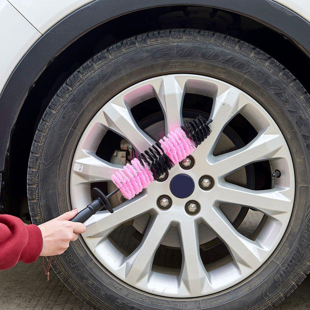 WOVELOT Brosse de Nettoyage de Voiture Brosses de Jante de pneus Outil de Nettoyage Automatique Brosse de Roue de Voiture 1 PCS
